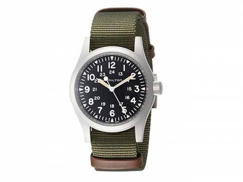 Armbanduhr klein Handaufzug silberfarben Ziffernblatt schwarz Swiss Made von HAMILTON  (*HM*AU*) - Bild vergrößern