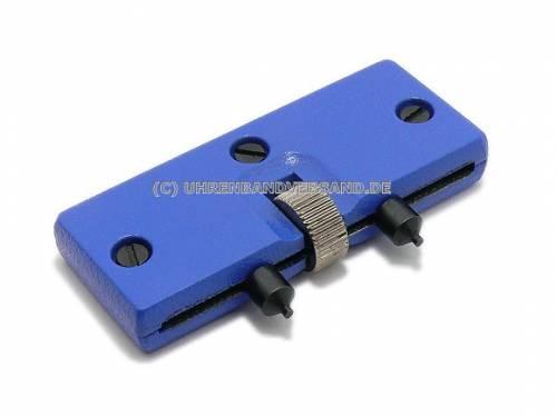 Gehäuseöffner kleine Ausführung blau für verschraubte Gehäuseböden - Bild vergrößern
