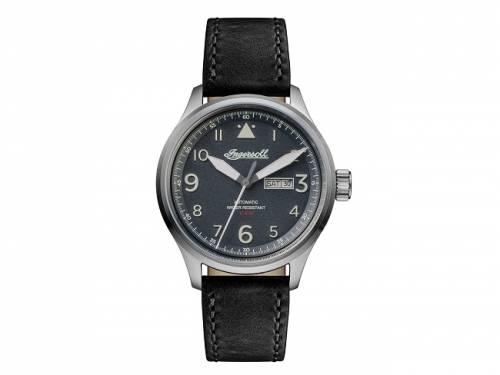 Automatik-Armbanduhr Edelstahl silberfarben gebürstet Ziffernblatt anthrazit von INGERSOLL (*IN*HU*) - Bild vergrößern