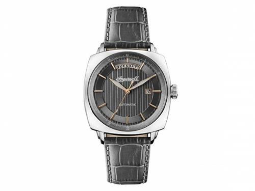 Automatik-Armbanduhr Edelstahl silberfarben Ziffernblatt anthrazit von INGERSOLL (*IN*HU*) - Bild vergrößern