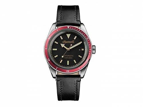 Automatik-Armbanduhr Edelstahl silberfarben Ziffernblatt schwarz von INGERSOLL (*IN*HU*) - Bild vergrößern