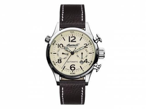 Automatik-Armbanduhr Edelstahl silberfarben Ziffernblatt beige von INGERSOLL (*IN*HU*) - Bild vergrößern