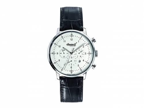 Automatik-Armbanduhr Edelstahl silberfarben Ziffernblatt weiß von INGERSOLL (*IN*HU*) - Bild vergrößern