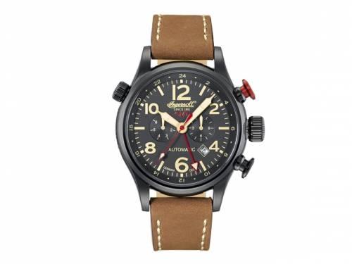 Automatik-Armbanduhr Edelstahl schwarz Ziffernblatt schwarz von INGERSOLL (*IN*HU*) - Bild vergrößern