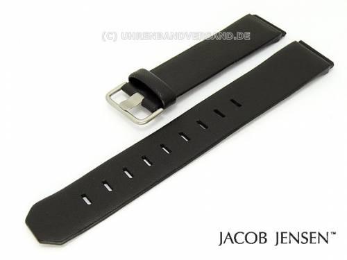 Ersatzband JACOB JENSEN 17mm Leder schwarz für Dimension 870, 890 Rectangular 875, 896 - Bild vergrößern