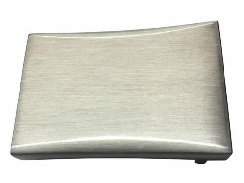 Gürtelschließe Metall silberfarben schlicht passend für Gürtelbreite 35 mm - Bild vergrößern