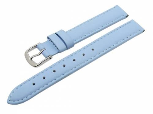 Uhrenarmband -Classic Standard- 14mm eisblau glatte Oberfläche (Schließenanstoß 12 mm) - Bild vergrößern