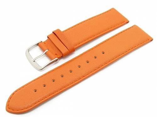 Uhrenarmband -Classic Standard- 24mm orange glatte Oberfläche (Schließenanstoß 22 mm) - Bild vergrößern