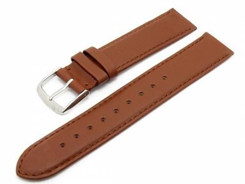 Uhrenarmband -Classic Standard- 20mm rotbraun glatte Oberfläche (Schließenanstoß 20 mm) - Bild vergrößern