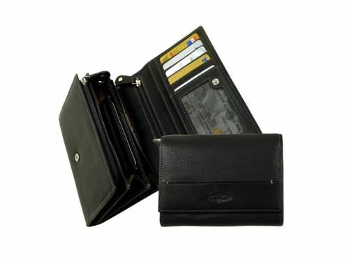 Kuvertbörse LA BORSA stonewash und boldgrain Rindleder schwarz/grau von LandLeder - Bild vergrößern