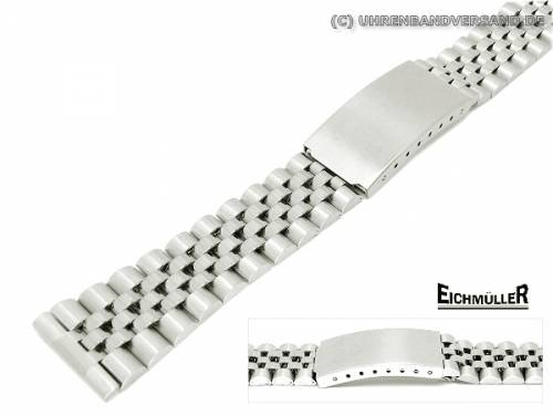 Uhrenarmband 20mm Edelstahl Jubilee-Stil teilweise poliert - Bild vergrößern