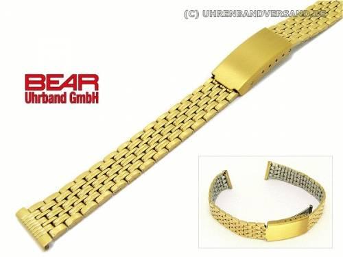 Edelstahl-Uhrband 14mm vergoldet poliert von BEAR - Bild vergrößern