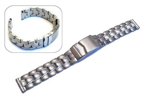 Uhrenarmband 18mm Edelstahl massiv teilweise poliert von Eichmüller - Produktbild