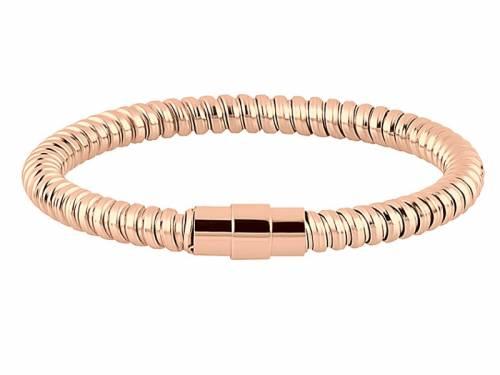 Schmuck-Armband Edelstahl roségoldfarben Magnet-Verschluss Edelstahl von MABRO Steel - Bandlänge ca. 19cm - Bild vergrößern