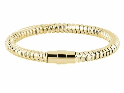 Schmuck-Armband Edelstahl goldfarben Magnet-Verschluss Edelstahl von MABRO Steel - Bandlänge ca. 19cm - Bild vergrößern