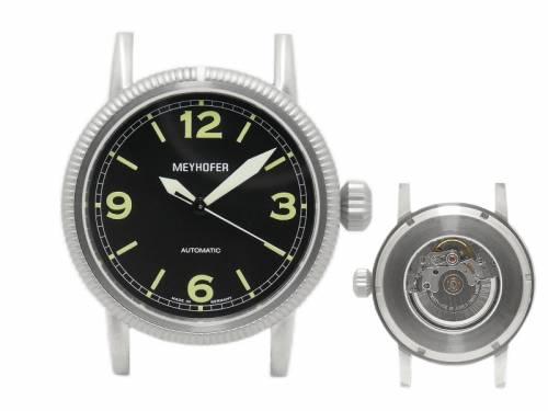 1 Exklusive Automatikuhr -Cottbus- Ziffernblatt schwarz ohne Uhrenarmband von Meyhofer - MADE IN GERMANY (*MY*HU*) - Bild vergrößern