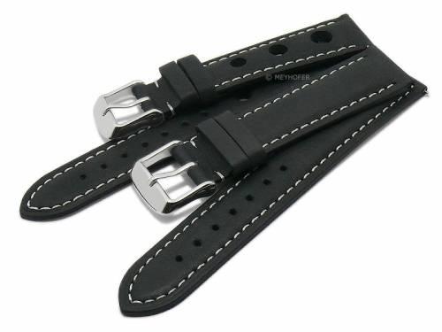 Schnellwechsel-Uhrenarmbänder 2er-Set EXPLORER DUO 18mm schwarz Leder von Meyhofer EASY-CLICK - Bild vergrößern