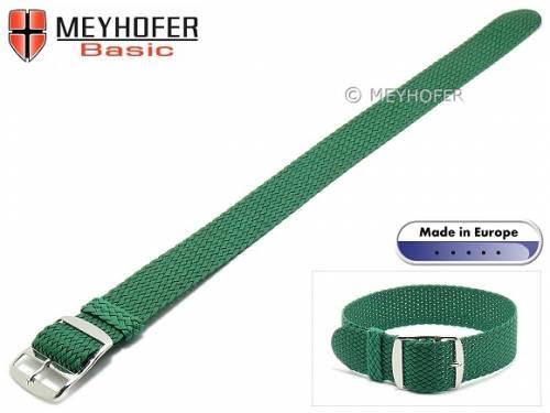 Basic Uhrenarmband -Atmore- 20mm grün Perlon/Textil Durchzugsband - Bild vergrößern