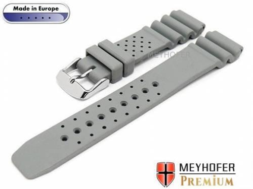 Uhrenarmband -Atlantis- 20mm grau Kautschuk von MEYHOFER (Schließenanstoß 18 mm) - Bild vergrößern