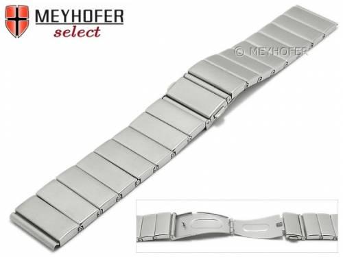 Uhrenarmband -Sudbury- 22mm Edelstahl gefaltet Massiv-Optik gebürstet von MEYHOFER - Bild vergrößern