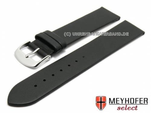 Uhrenarmband XL -Cartaxo- 24mm schwarz Kalb-Nappaleder glatt von MEYHOFER (Schließenanstoß 22 mm) - Bild vergrößern