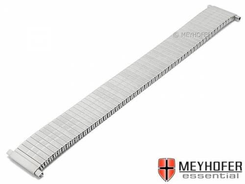 Uhrenarmband -Sedalia- 18-22mm Edelstahl-Zugband mit Teleskop-Anstoß teilweise poliert von MEYHOFER - Bild vergrößern