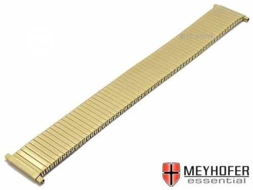Uhrenarmband XL -Warrenton- 18-22mm goldfarben Edelstahl-Zugband mit Teleskop-Anstoß teilweise poliert von MEYHOFER - Bild vergrößern