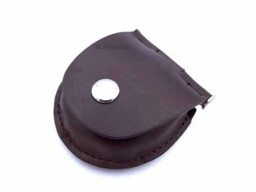 Gürteltasche -Wandsbek- dunkelbraun Leder zur Aufbewahrung für 1 Taschenuhr von MEYHOFER - Bild vergrößern