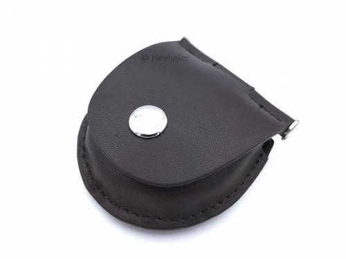 Gürteltasche -Wandsbek- schwarz Leder zur Aufbewahrung für 1 Taschenuhr von MEYHOFER - Bild vergrößern