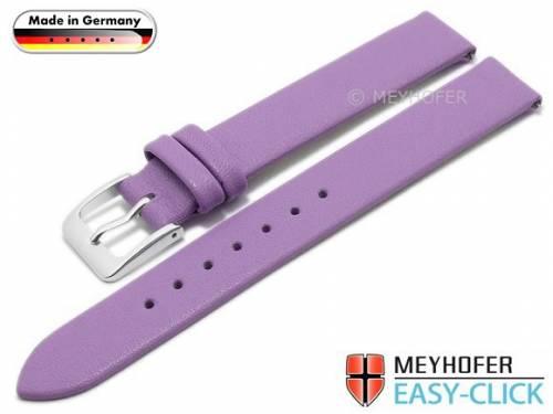 Meyhofer EASY-CLICK Uhrenarmband -Donau- 12mm flieder Leder glatt ohne Naht (Schließenanstoß 12 mm) - Bild vergrößern