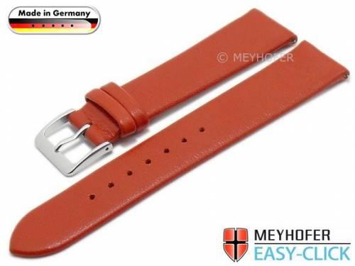 Meyhofer EASY-CLICK Uhrenarmband XS -Weser- 18mm rot Leder glatt ohne Naht (Schließenanstoß 18 mm) - Bild vergrößern