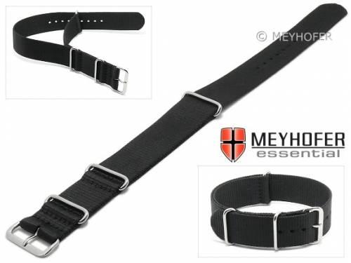 Uhrenarmband -Garland- 18mm schwarz Textil Durchzugsband im NATO-Style von MEYHOFER - Bild vergrößern