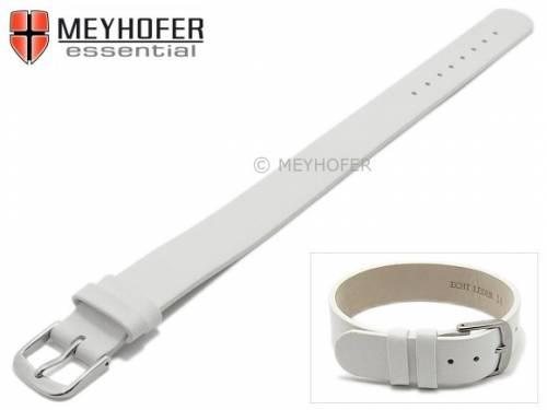 Uhrenarmband -Kufstein- 10mm weiß Leder glatt Durchzugsband von Meyhofer - Bild vergrößern
