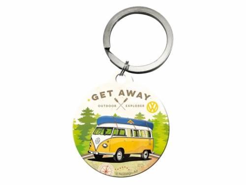 Retro-Schlüsselanhänger/Taschenanhänger Volkswagen Bulli - Let's Get Away von Nostalgic-Art - Bild vergrößern