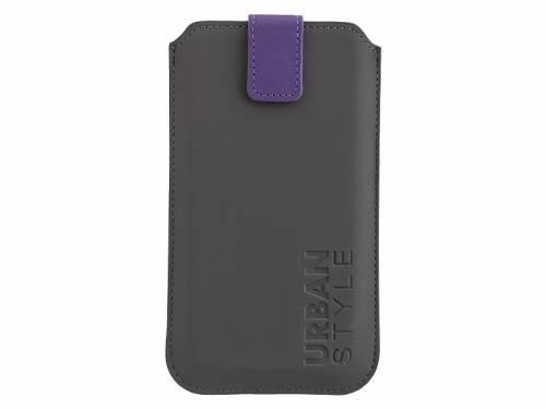 Exklusive Hülle -Urban Style- für Handy & Smartphone z.B. Samsung Feinsynthetik lederähnlich dunkelgrau für 5,7 bis 6,5- - Bild vergrößern