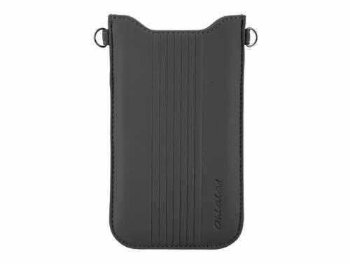Exklusive Hülle -Ohlala- für Handy & Smartphone z.B. iPhone Feinsynthetik lederähnlich schwarz für 5,2- - Bild vergrößern