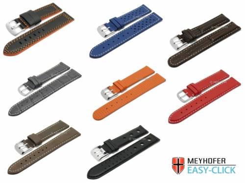 1 -c- Preistipp SPORTIV: Uhrenarmbänder Meyhofer EASY-CLICK diverse Farben & Ausführungen 12-24mm - Bild vergrößern