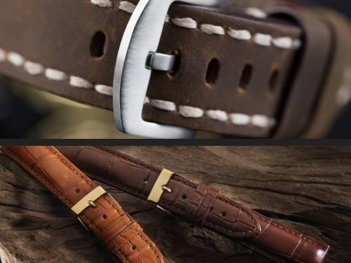 1 -a- Produkt-Tipp PREMIUM: Luxus-Uhrenarmbänder diverse Marken + Ausführungen aus Leder & mehr 12-24mm - Bild vergrößern