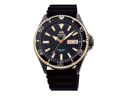 Automatik-Armbanduhr Edelstahl schwarz/goldfarben Ziffernblatt schwarz von ORIENT (*OR*AU*) - Produktbild