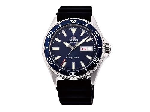 Automatik-Armbanduhr Edelstahl silberfarben Ziffernblatt dunkelblau von ORIENT (*OR*AU*) - Produktbild