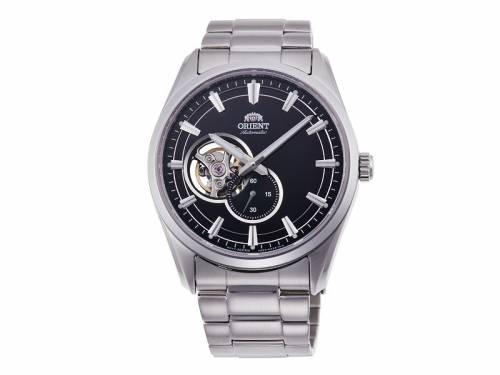 Automatik-Armbanduhr silberfarben Ziffernblatt schwarz von ORIENT (*OR*HU*) - Bild vergrößern