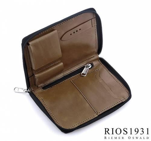 Uhrenreisemappe -Julius- dunkelbraun echt Leder Vintage-Look für 1 Armbanduhr von RIOS - Bild vergrößern