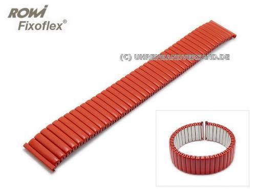 Uhrenarmband Fixoflex S Zugband 18mm Edelstahl matt rot von ROWI - Bild vergrößern
