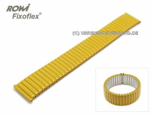 Uhrenarmband Fixoflex S Zugband 20mm Edelstahl matt gelb von ROWI - Bild vergrößern