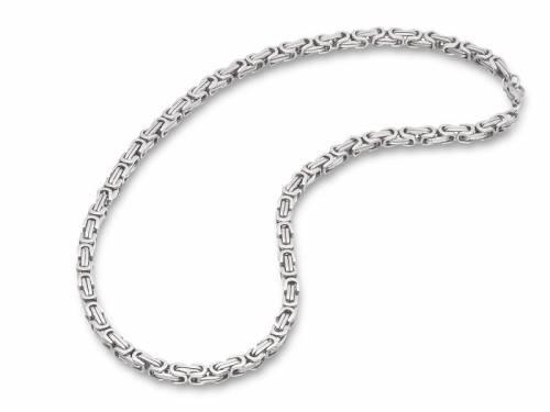Schmuck-Armband Königskette Edelstahl silberfarben von Eichmüller - Bandlänge ca. 21cm - Bild vergrößern