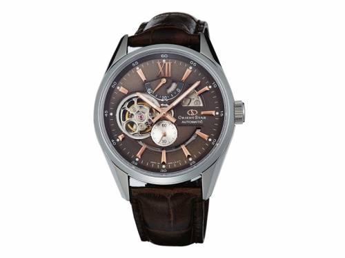 Automatik-Armbanduhr silberfarben Ziffernblatt braun von ORIENT STAR (*OR*HU*) - Bild vergrößern