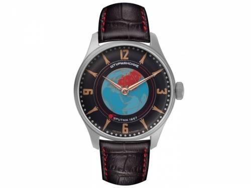 Armbanduhr Handaufzug Heritage Sputnik Edelstahl silberfarben Ziffernblatt mehrfarbig von STURMANSKIE (*ST*HU*) - Bild vergrößern
