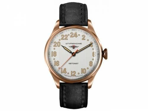 Automatik-Armbanduhr Heritage Arctic Edelstahl roségoldfarben Ziffernblatt weiß von STURMANSKIE (*ST*HU*) - Bild vergrößern