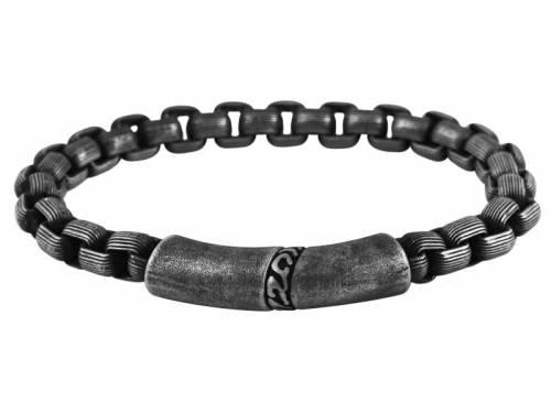 Schmuck-Armband Edelstahl Kette anthrazit Magnetverschluß anthrazit - Bandlänge ca. 22,5cm - Bild vergrößern
