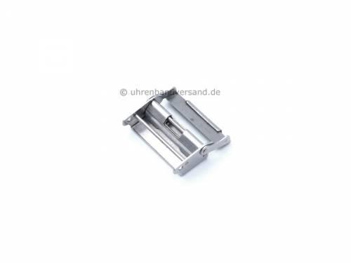 Ersatzteil für Schiebeverschluß Unterseite 22mm mit Sicherheitsbügel Edelstahl für Metallbänder  - Bild vergrößern